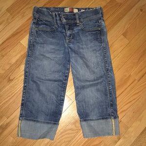 Denim low waist Capri pants